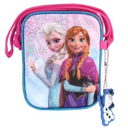 Price comparison product image Sono Trading Anna and The Snow Queen vertical type pochette blue 9865k [FROZEN goods Elsa Disney bag import import]