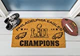 #10: Team Sports America Philadelphia Eagles Super Bowl LII Champions Natural Coir Outdoor Safe Door Mat, 16 x 28 inches