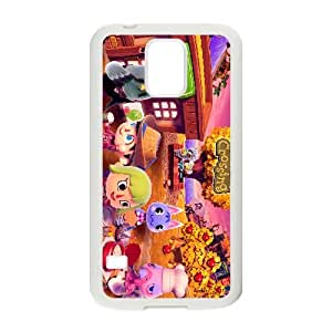 Animal Crossing New Leaf 005 funda Samsung Galaxy S5 caja funda del teléfono celular del teléfono celular blanco cubierta de la caja funda EEEXLKNBC28597