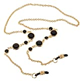 L. Erickson Daphanie Eyeglass Chain - Jet/Gold
