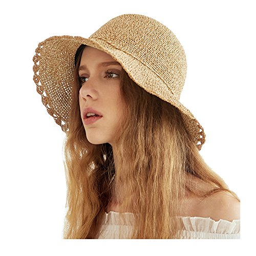Kekolin Womens Packable Summer Sun Hat Straw Hat 86033b58a213