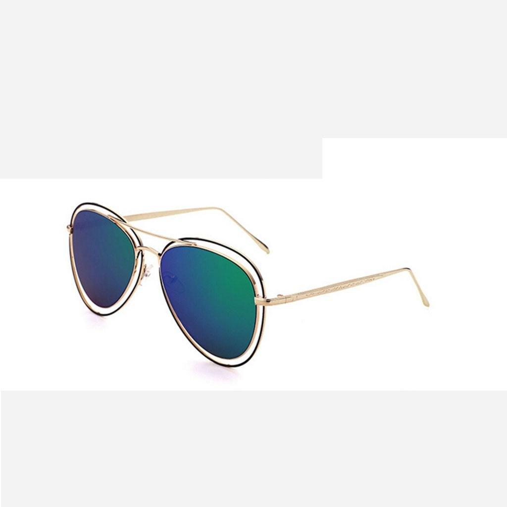 ZHANG Metallo di modo occhiali da sole occhiali da sole unisex tendenza vetri variopinti, 6