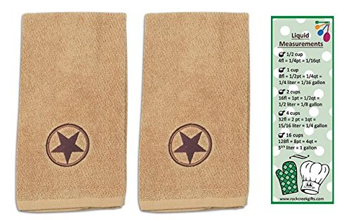 Kay Dee Cowboy Star Embroidered 2-Piece Terry Towels from Designs with Bookmark