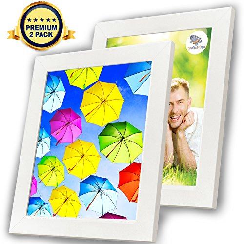 8 Frame Square Portrait and Landscape Design Collage Picture Frame - 1