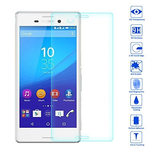 OKCS® TPU Hülle Case Schutzhülle für Sony Xperia M4 inklusive Wunderglass Panzerglas Screenprotector Schutzfolie Displayschutz Glasprotector