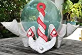 TikiMaster SHIP ANCHOR HANGER - 12'' WHITE & RED NAUTICAL DECOR
