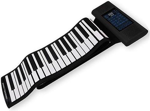 KUANDARM Piano Plegable Piano Eléctrico Enrollable Mano de 61 ...