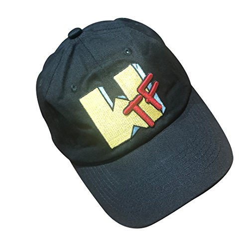 at Baseball Cap Embroidered Adjustable Snapback Strapback Denim Black ()