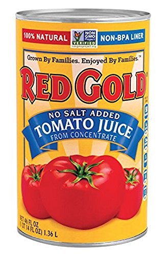 (Red Gold No Salt Added Tomato Juice From Concentrate)