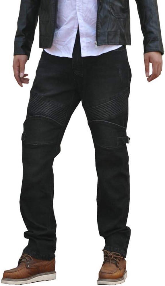 GELing Motorradhosen Textilhose Wasserdicht Winddicht Mit Protektore,Schwarz,S
