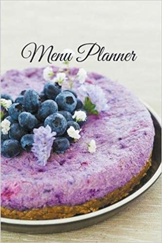 Buy Menu Planner Beautiful Raw Blueberry Cake Cover Design Book