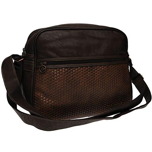 Dunlop Mens Bag - Dunlop Messenger Bag Zip Luggage Storage Carry Shoulder Strap Accessories Brown