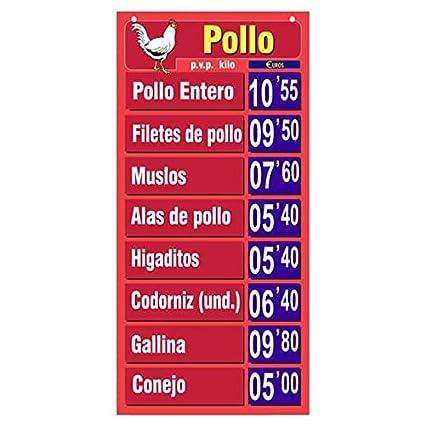 Lista Oficial de Precios para Pollo/Cartel Porta Precios ...