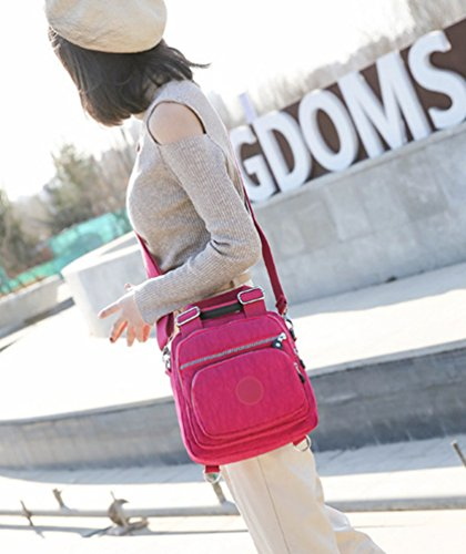 Womens Yuncai Handbag Waterproof Small Rose Multifunctional Backpack Casual Bags qE5rRwFEx