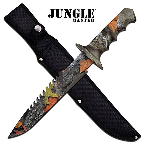 Jungle Master JM-005FC-MC JM-005FC Fixed Blade Knife 14.75
