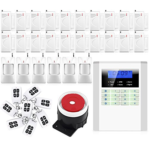 Home Security Alarm Smart Home Wireless/Wired GSM/PSTN Home Security Alarm System 20 Pcs Door / Window Sensor
