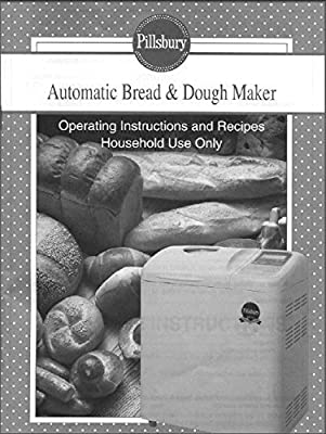 Pillsbury Bread Machine Maker Instruction Manual & Recipes