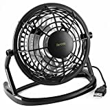 USB FAN - iKross USB Mini Desktop Office Fan with 360 Rotation - Black For PC Computer Laptop Chormebook Ultrabook