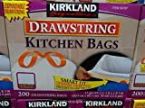 Kitchen Bags, 200 CT, with expandable drawstring, 13gal 3 Pack