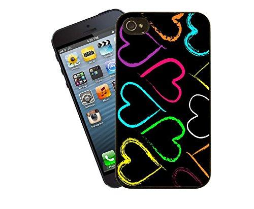 Coque pour iPhone Motif cœurs Arc-en-ciel, ce modèle Coque pour iPhone 5 et 5s-By Eclipse idées cadeaux