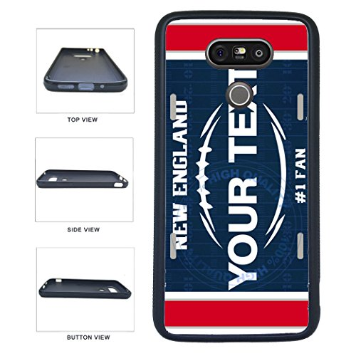 BleuReign(TM) Personalized Custom Name Football New England License Plate TPU RUBBER SILICONE Phone Case Back Cover For LG G5