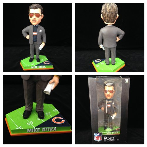 Mike Ditka Chicago Bears #/2014 Minimal Edition Bobblehead Brand New in Box. Chicago Bears Collectibles