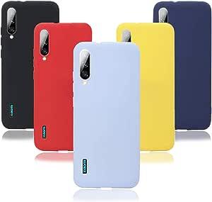 KZIOACSH Funda para Xiaomi Mi A3,Silicona Carcasa Transparente TPU Protección,Ultra Slim Anti Choque Anti Arañazos para Xiaomi Mi A3 (5 uds. colores ...