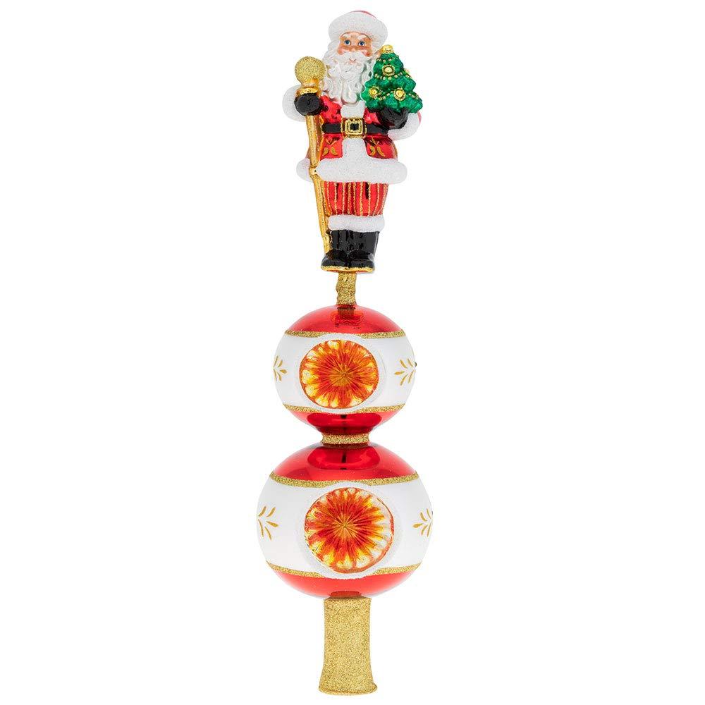 Christopher Radko Traditional Santa Finial Christmas Ornament