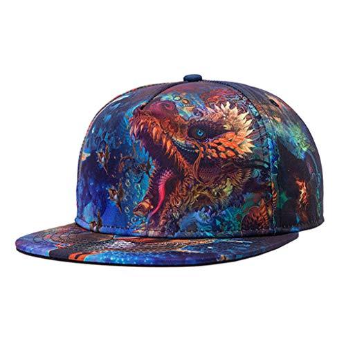 Moda De Béisbol La Dragon La Gorras Impresa Hip Snapback Vintage Tapa Masculina Hop Azul Llxln qR0454