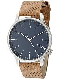 Unisex KOM-W2000 Winston Analog Display Japanese Quartz Brown Watch