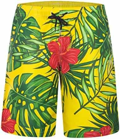 f94699bffb ZHPUAT Board Shorts Mens Swimwear Swim Trunks Quick Dry Beach Bathing Suits  Shorts