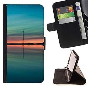 Momo Phone Case / Flip Funda de Cuero Case Cover - Teal verde melocotón verano Naturaleza - LG G2 D800