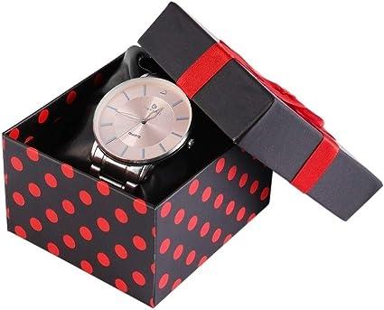 Caja de cartón para Reloj de Pulsera, Estuche de Regalo: Amazon.es: Relojes