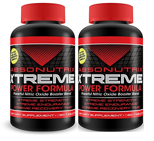 2 Absonutrix Xtreme Power Formula Powerful Nitric Oxide Booster Blend 120 Tablets Xtreme Strength Xtreme Endurance Xtreme Recovery Time