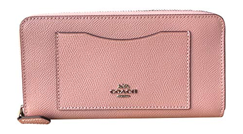 Coach Crossgrain Leather Accordion Zip Wallet (Petal)