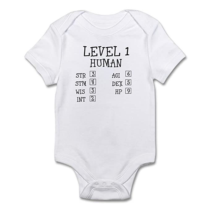 4e302cff8 Image Unavailable. Image not available for. Color: CafePress - Level 1  Human Body Suit - Cute Infant Bodysuit Baby Romper Cloud White
