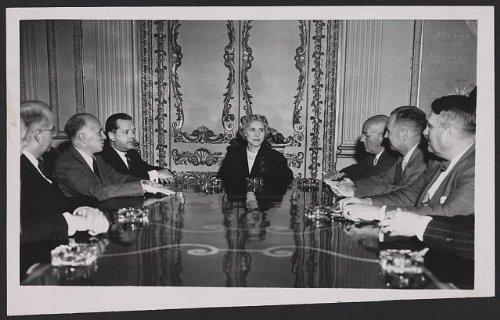 Infinite Photographs Photo: Mrs Clare Boothe Luce Presiding, Staff, Ambassadors, US Embassy, Rome, Italy, 1953 Size: 8X ()