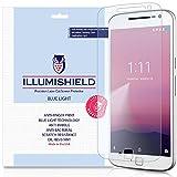 Moto G4 Plus Screen Protector [2-Pack], iLLumiShield - (HD) Blue Light UV Filter / Premium Clear Film / Anti-Fingerprint / Anti-Bubble Shield