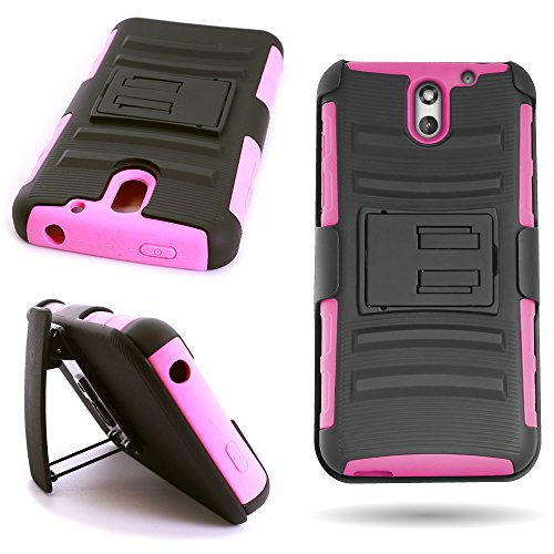 HTC Desire 610 Case Hybrid (Hot Pink / Black) CoverON Protective Belt Clip Holster Phone Cover for HTC Desire 610