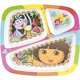 Zak! Designs Three Section Plate - Dora
