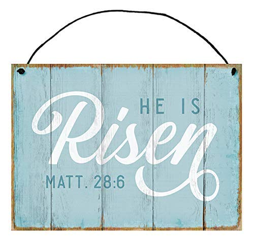 He is Risen Handcrafted Wood Sign Easter Religious Gift Decor
