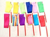 6.5-Foot Long Dancing Ribbon Streamer Rhythm Ribbon Set Pack of 12 random Different Colors