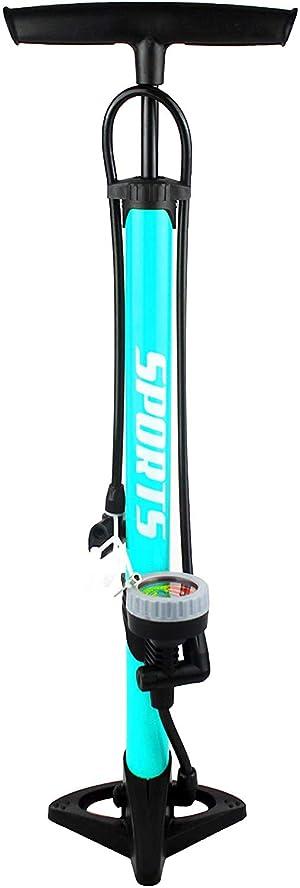 KMTSTYLE Bomba Inflador de Suelo para Bicicleta con Manómetro Profesional, Completamente Portátil, Compatible con válvulas Presta y Schrader.