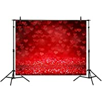 Allenjoy 7x5ft Polyester Hearts Flying into the Air Photo Studio Backdrop Bokeh Background for Wedding Photography