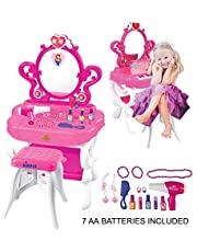Princess Dream Vanity Set with Many Accessories Included Great for Toddlers & Girls by Dimple