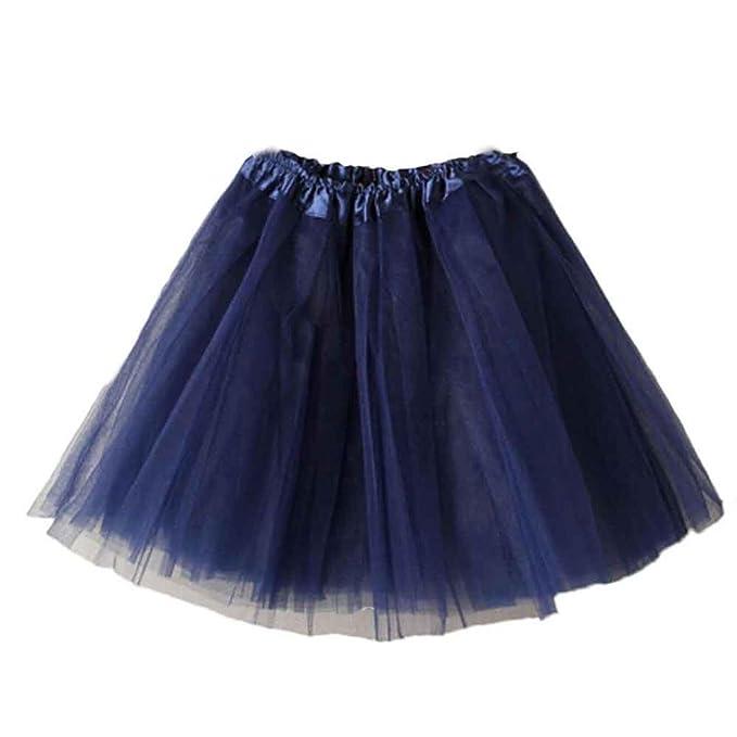 eb22183b8 Falda Tul Mujer Midi Faldas De Tul Gasa Soplo Danza Ballet Falda Mullida  Color SóLido Faldas