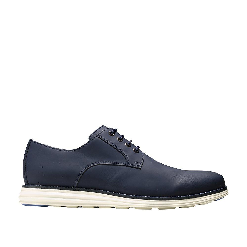 Cole Haan Men's Original Grand Plain Toe Sneaker, Blazer Blue Matte Leather, 13 W US