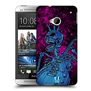 Head Case Designs Blue Gem Skull of Rock Protective Snap-on Hard Back Case Cover for HTC One