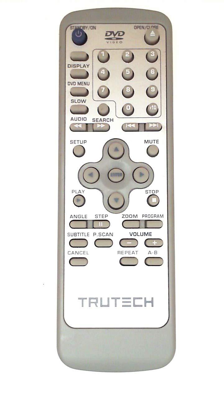 Trutech jx-8006d DVD / TVリモートコントロールw288 B00870JJ1Q