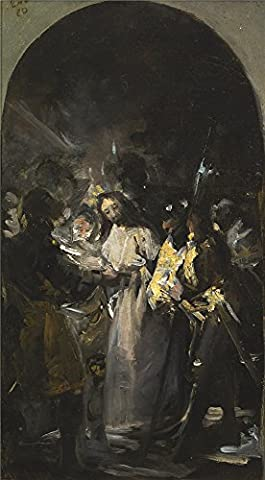 Oil Painting 'Goya Y Lucientes Francisco De El Prendimiento De Cristo 1798', 24 x 44 inch / 61 x 111 cm , on High Definition HD canvas prints is for Gifts And Foyer, Kids Room And Nursery Decoration